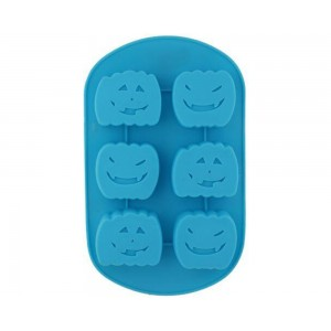 Silicon Cupcake/Muffin Moulds For Baking - Face Shaped, Blue BB 155, 1 pc